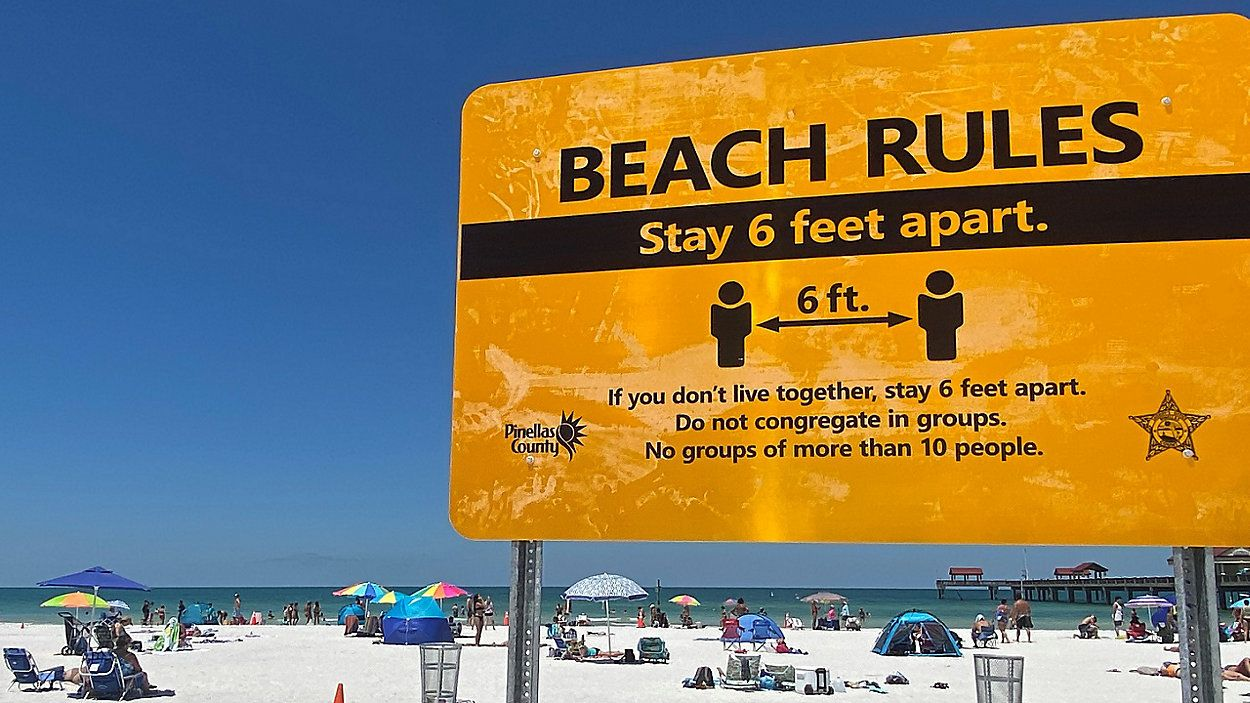 Social Distancing To Be Enforced For Holiday Weekend Beach Crowds