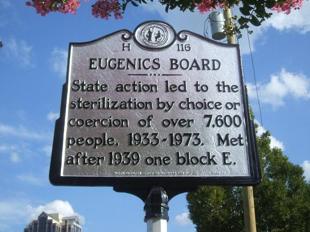 Eugenics marker in Raleigh