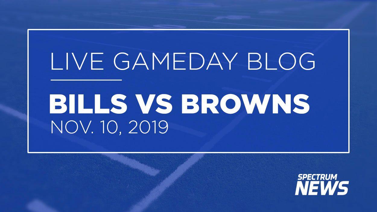 LIVE Updates from Week 10 - Bills vs Browns