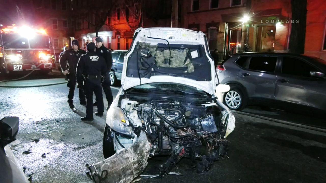 Wild Bushwick Car Wreck