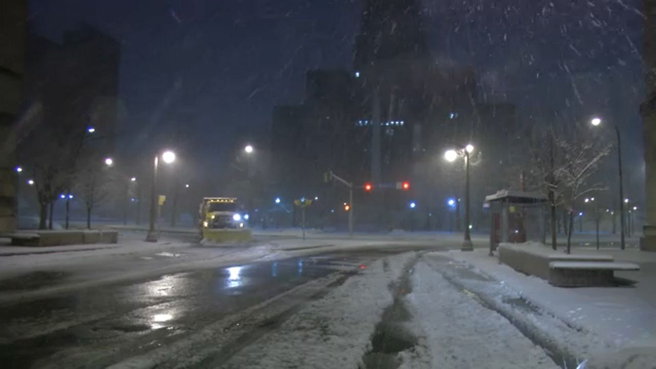 Snow at in Downtown Buffalo