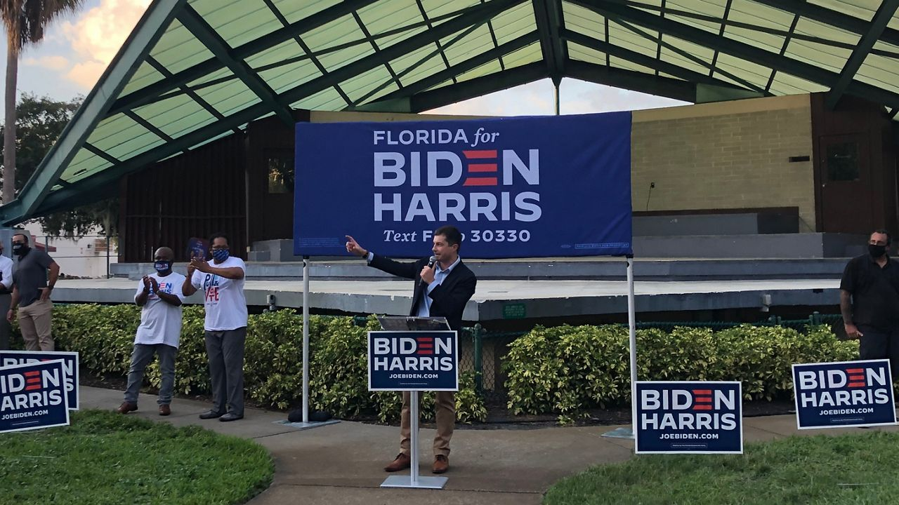 Pete Buttigieg Campaigns for Joe Biden in Tampa Bay