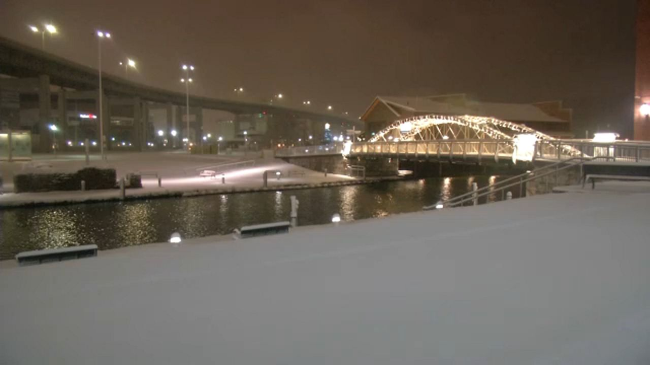 Snow at Canalside