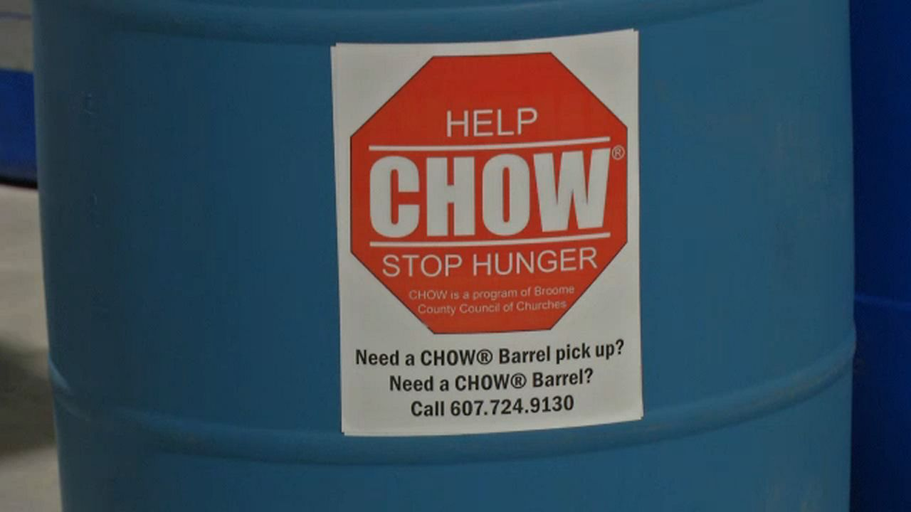 Chow preparing for food drive