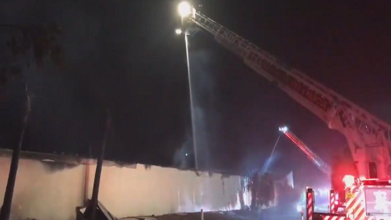 Large Fire Rips Through Clearwater Storage Facility