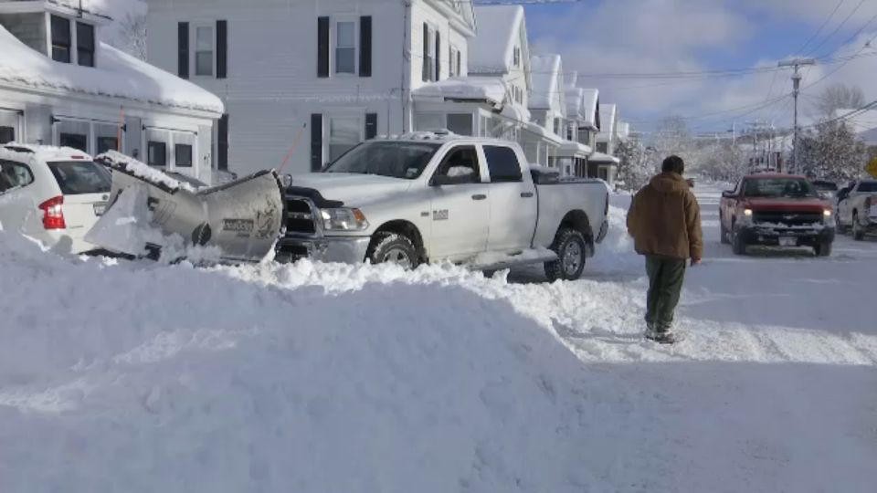 Watertown Clean Up After Snowstorm