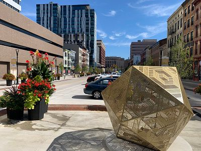Court Street Plaza features expanded sidewalks, new construction and a layout conducive to street events (Casey Weldon | Spectrum News 1)