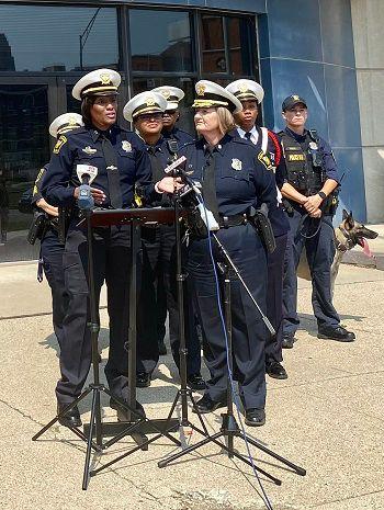 Capt. Danita Pettis with the Cincinnati Police Department (Casey Weldon   Spectrum News 1)