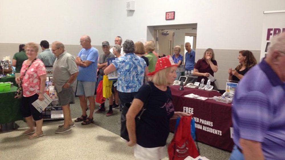 A big crowd at the All Hazards and Hurricane Expo in Crystal River Saturday.  (Deirdre Treacy, Spectrum News)