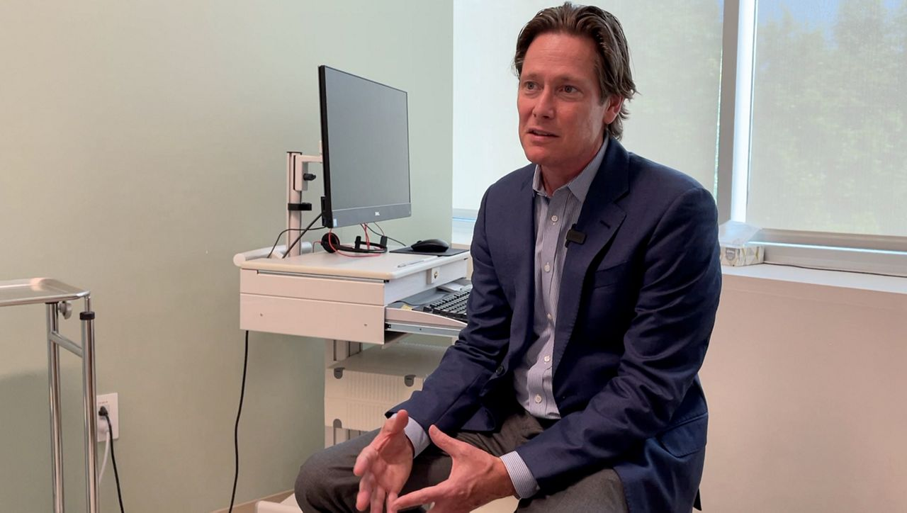 Prism Health North Texas CEO Dr. John T. Carlo appears in this image from July 2021. (Spectrum News 1/Stacy Rickard)