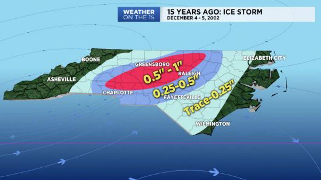 15 Years Ago Crippling Ice Storm Strikes North Carolina