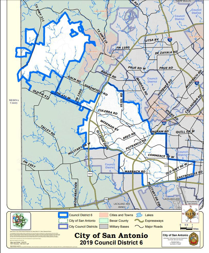 Meet the Candidates: SA District 6 City Map Of San Antonio on
