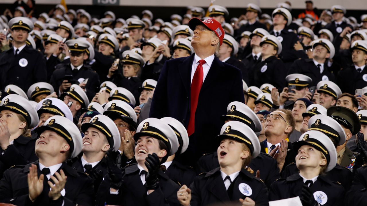 Trump Touts New Pro Sports Option At Army Navy Game