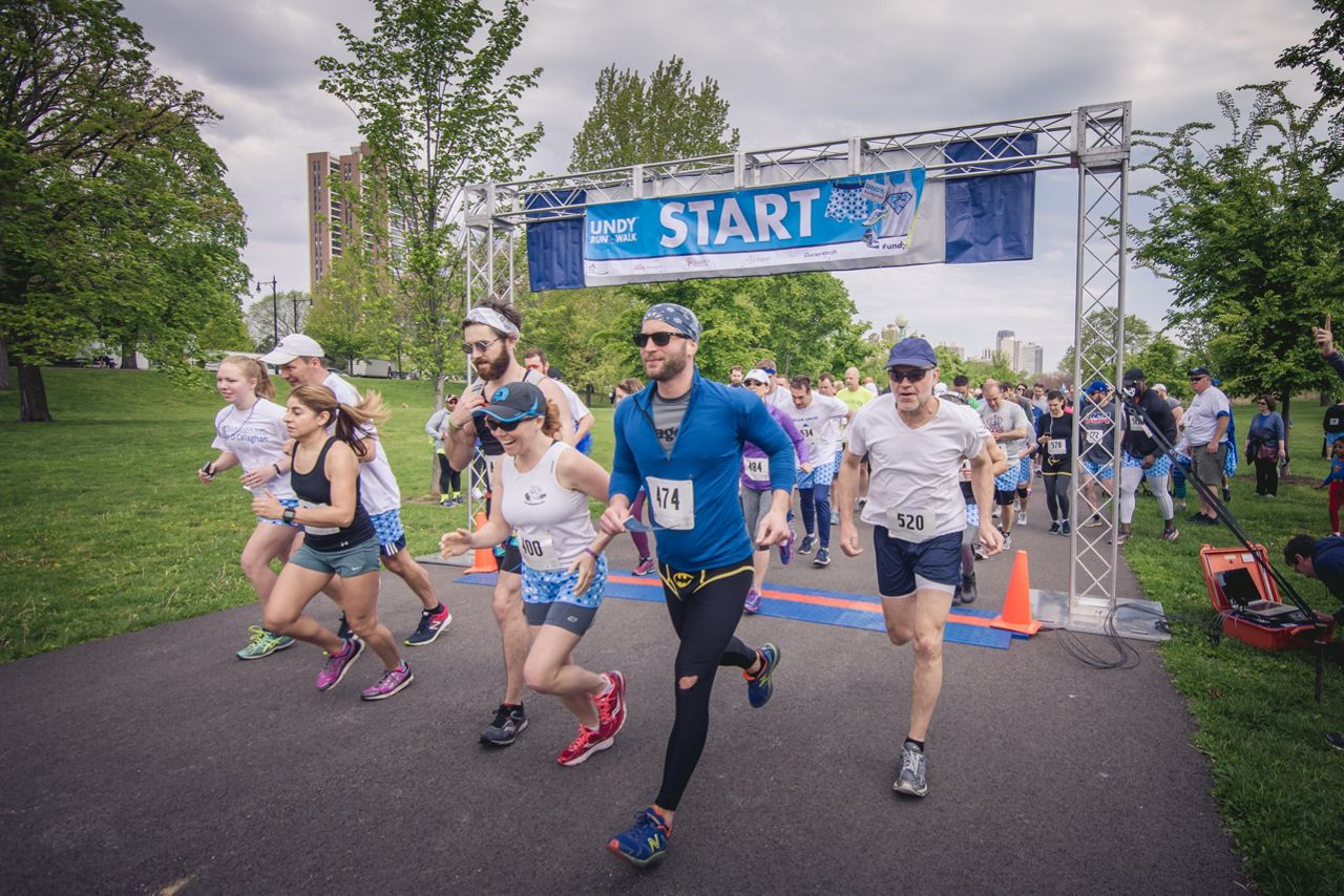 Raising Awareness Of Colon Cancer At The Undy Run Walk