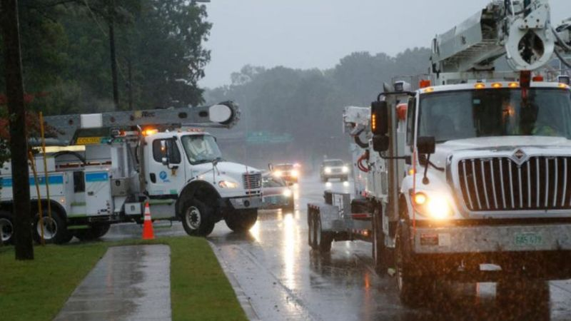 Power outages in North Carolina