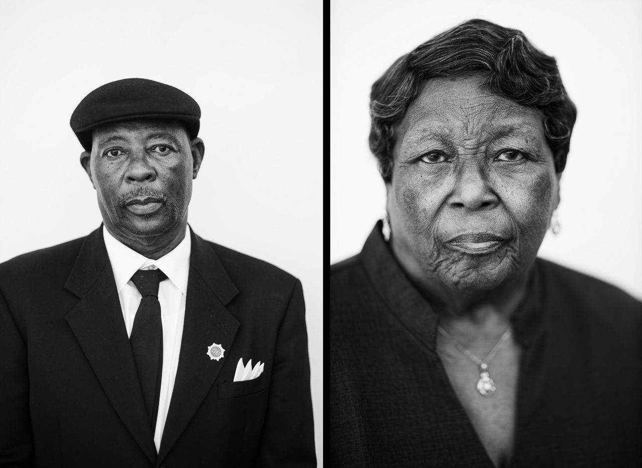These photos of Robert Bryant and Carnewia Spence, captured by Bertie Pearson, are shown in an exhibition in London (Photo credit: Bertie Pearson)