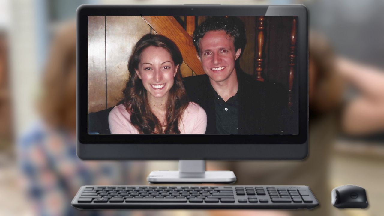 Pictured are Nathan and Tara Coughey the first time they met in 2004. After meeting on eHarmony the couple were engaged and married within the first year of their relationship. (Courtesy: Tara Coughey)
