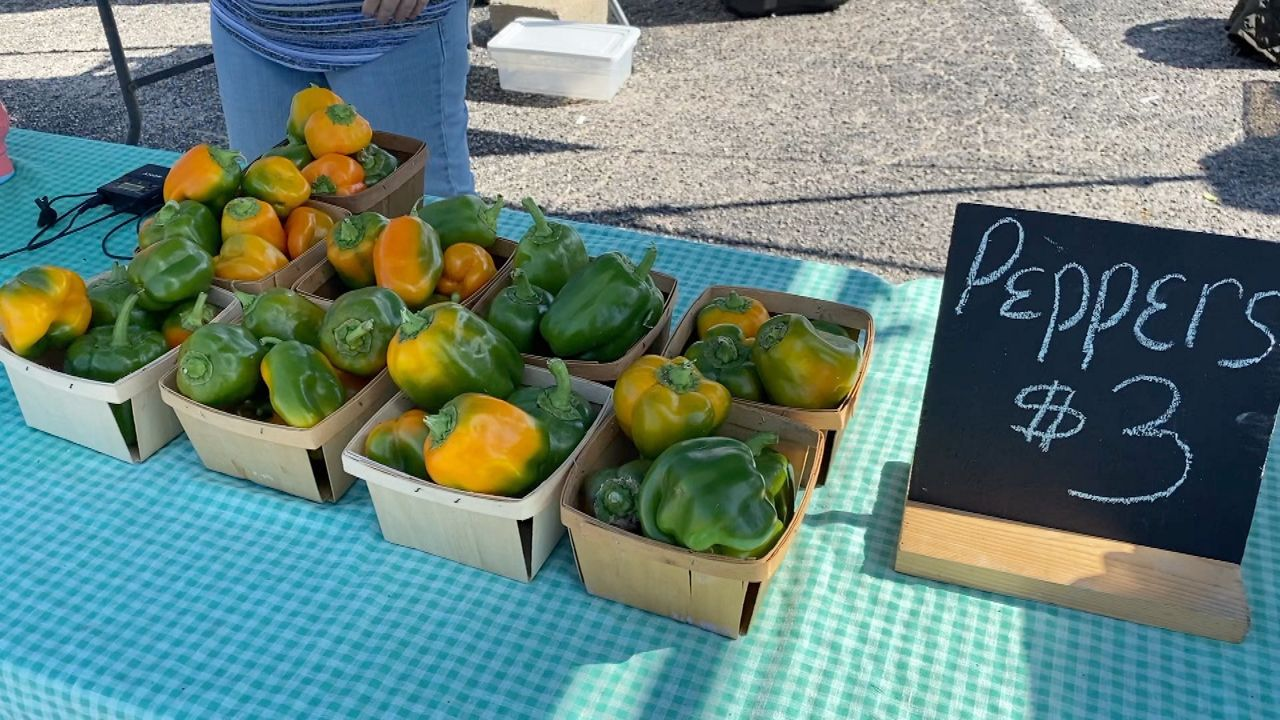 Peppers for sale Shine's Farmstand (Lupe Zapata/Spectrum News)
