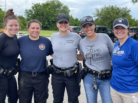 Female officers with the Cincinnati Police Department (Provided: Cincinnati Police Department)