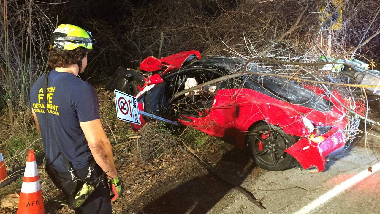 385k Ferrari Laid Waste After 100 Mph Crash