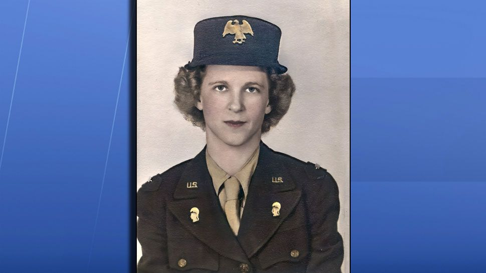 """Sent via Spectrum Bay News 9 app: """"Army Lt. Laura Caldwell. Photo 1942. She was one of the first 400 WACS. Laura (1916-2005) was my lovely mother-in-law."""" (Gloria Matyszyk, Viewer)"""