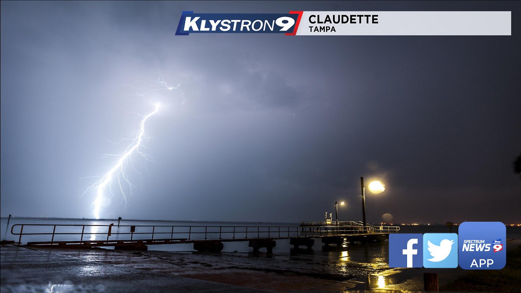 WEATHER VLOG: Vivid Lightning Strikes Tampa Bay