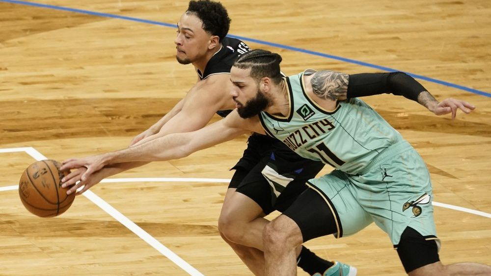 Bridges Leads Hornets to 127-119 Win Over Short-Handed Bucks