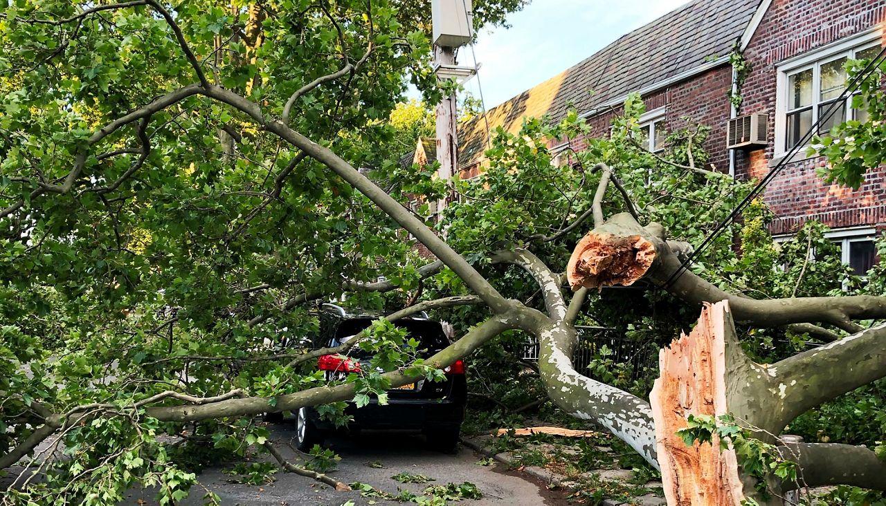 Fuerte tormenta deja vecindarios damnificados en Nueva York