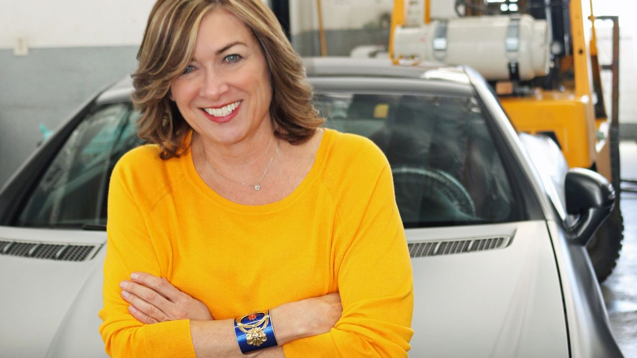 Christi Schimpke's business Crash Jewelry makes bracelets, earrings, necklaces, and cufflinks out of crashed cars.