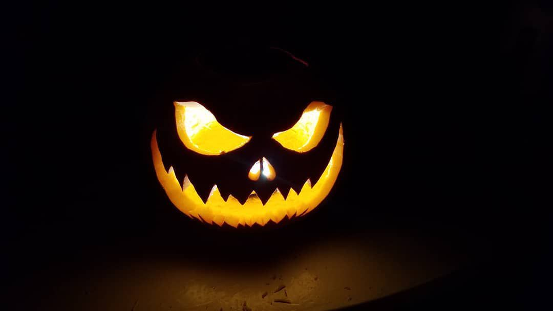 A spooky Jack-O-Lantern from Adam Thomas.