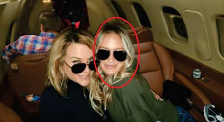 """An image purports to show suspect Katherine """"Katie"""" Schwab, circled, on a plane bound for Washington ahead of the January 6, 2021, riot at the U.S. Capitol. (Source: U.S. District Court for the District of Columbia)"""