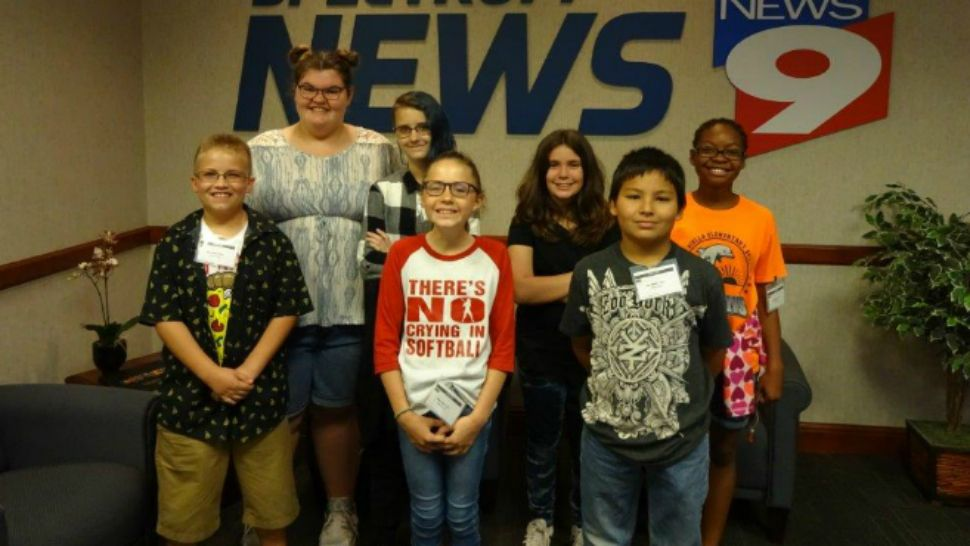 Mary Giella Elementary News Crew - Spring Hill, FL - April 3, 2018