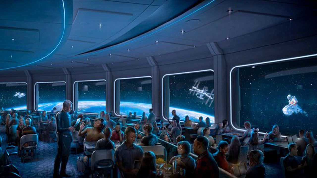 Image result for epcot space themed restaurant 2020