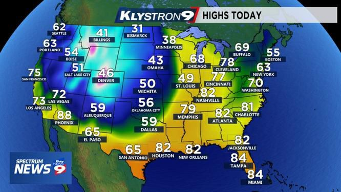 Weather Across The Us Map Fall Hits US in Force as Florida Hangs on to Summer