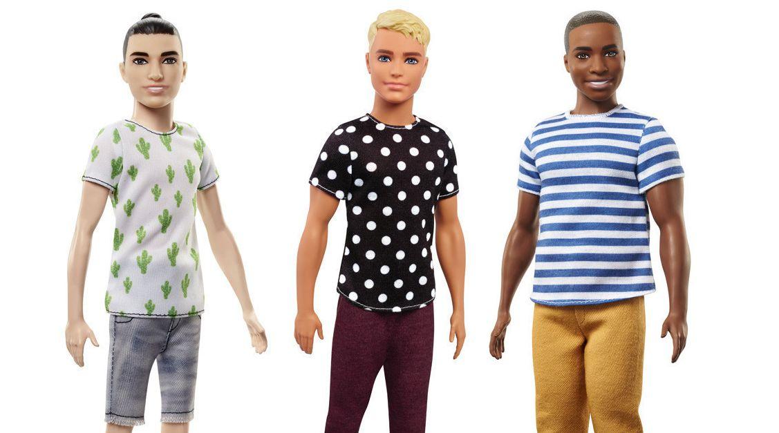 7c36c16f Man bun, dad bod make the cut for Mattel's newest Ken dolls