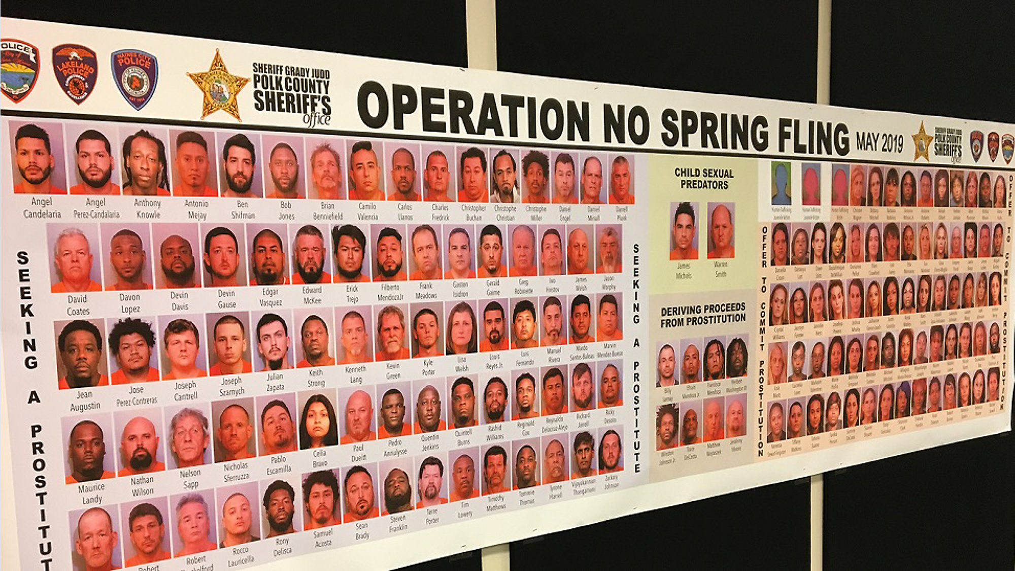 154 Arrests Made in Undercover Prostitution Sting in Polk