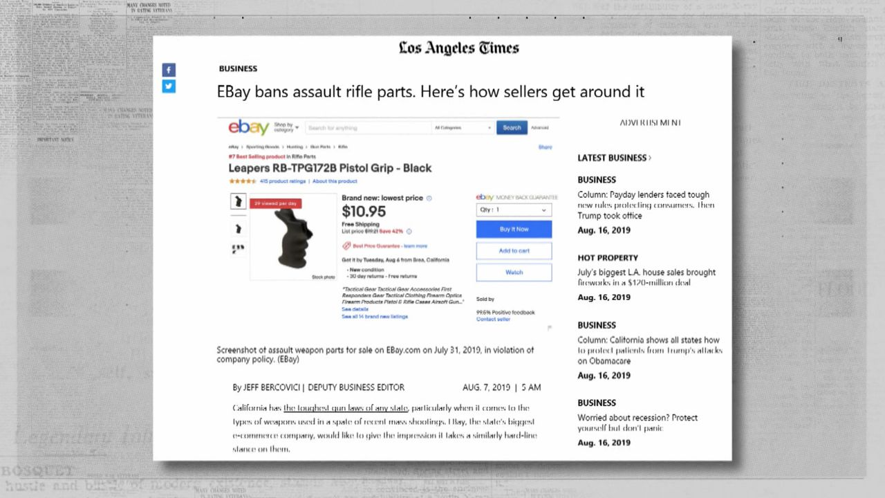 La Times Gun Sellers Get Around Ebay Rules To Sell Parts