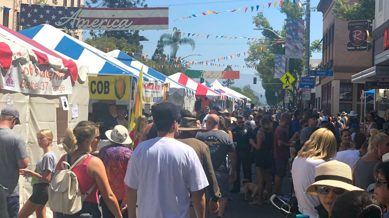 Crowds at the Orange International Street Fair on Aug. 30, 2019