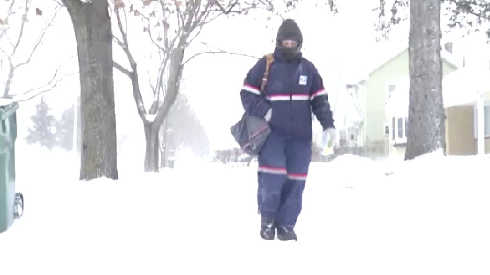 Snow Day No Just Another Day On The Job For Postal Carriers