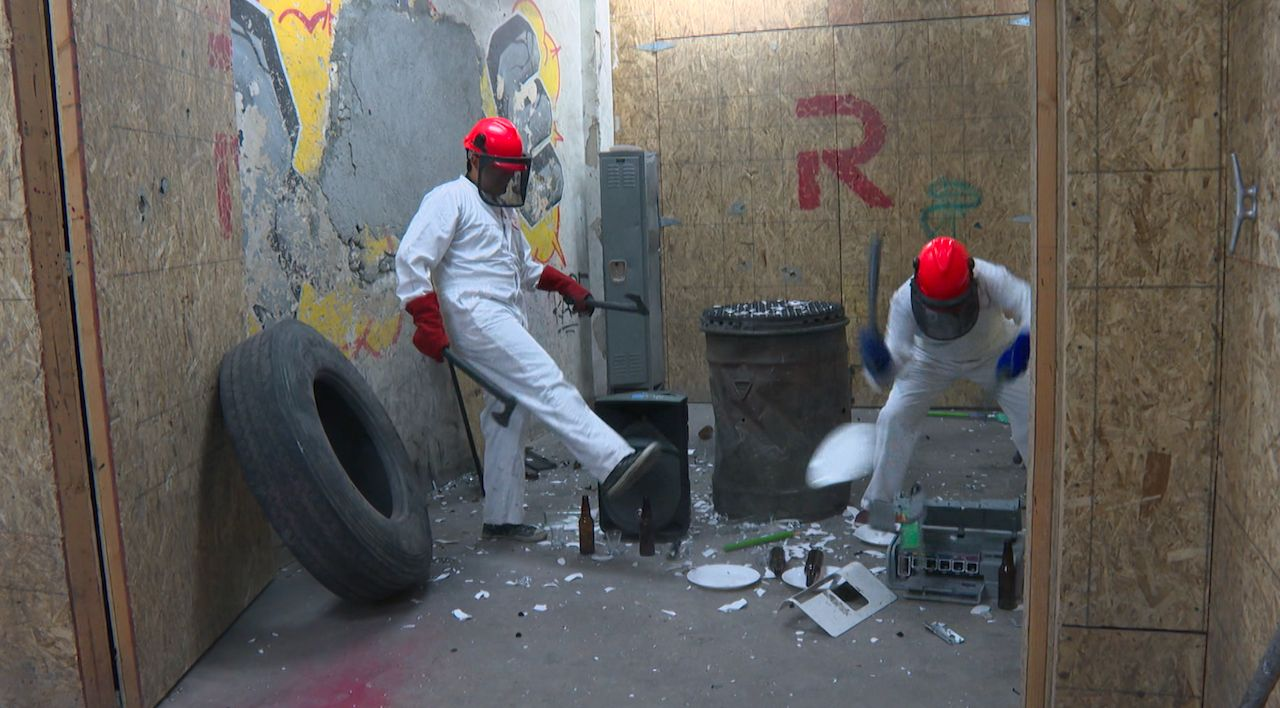 Rage Room Provides Emotional Release That's Therapeutic