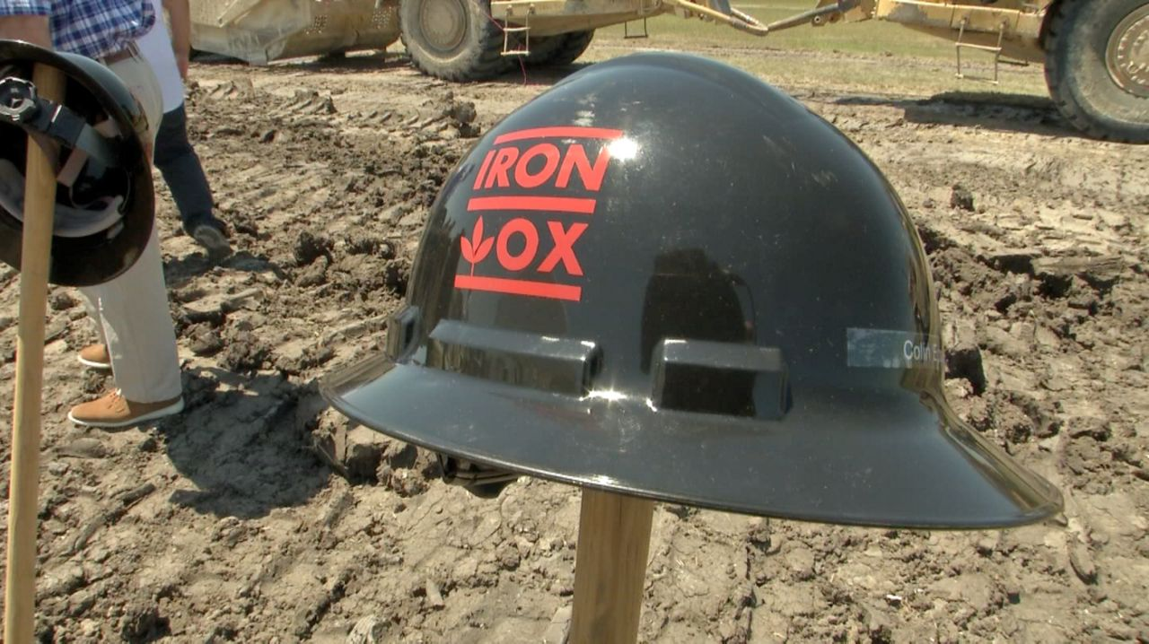 An Iron Ox helmet appears in this image from April 2021. (Spectrum News 1/Matt Mershon)