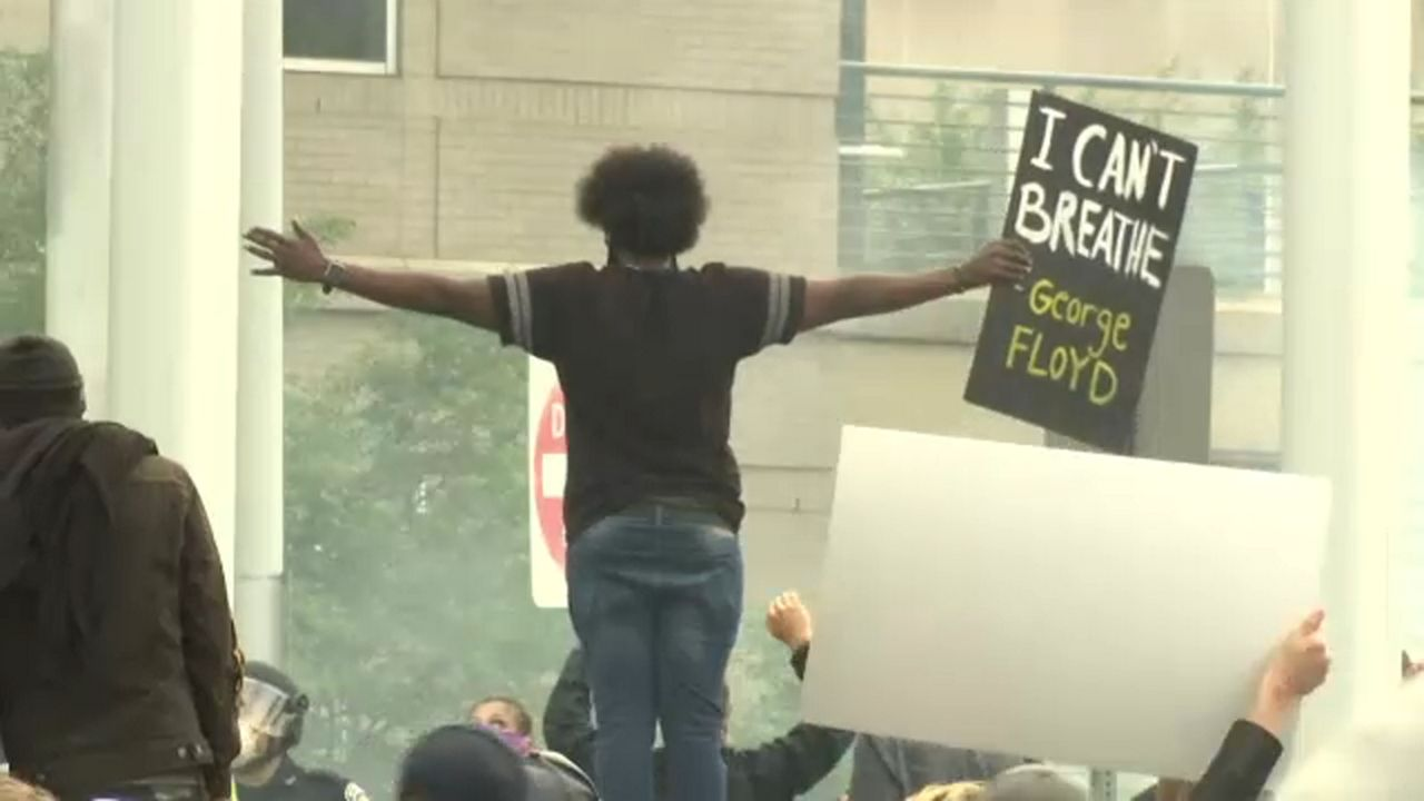Overnight protests left parts of Rochester in shambles, and, in some places, flames.