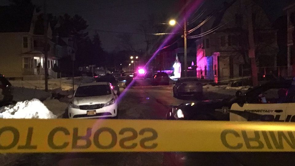 Large police presence in Schenectady