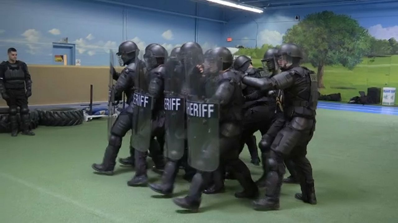 Inside SERT Training for the Mock Prison Riot Competition