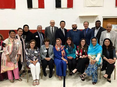 Shakila T. Ahmad (center) attends a multicultural event (Provided)