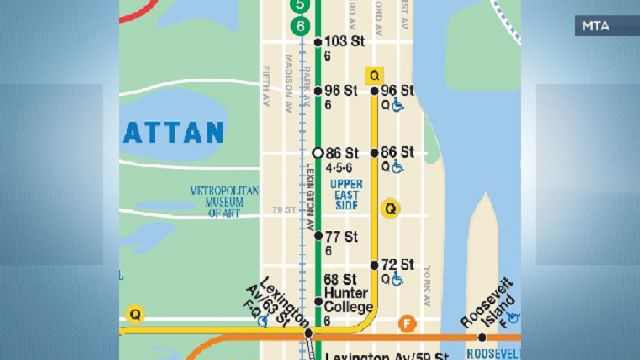 Subway Map 77 Street.Second Avenue Subway Maps Begin To Appear Across City