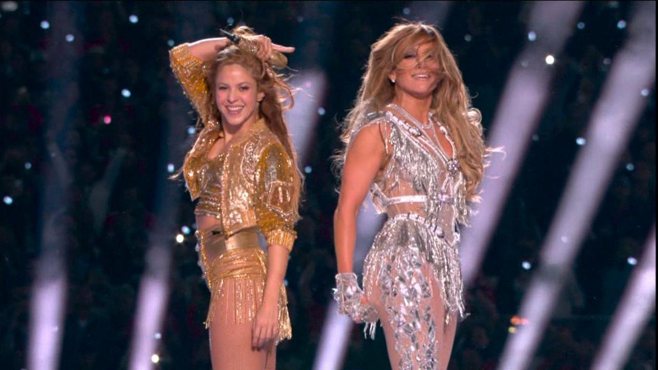Shakira y JLo arrasan en su espectáculo del Súper Tazón