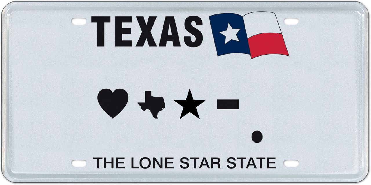 My Plates Texas >> Hearts Top Texas Personalized License Plate Options