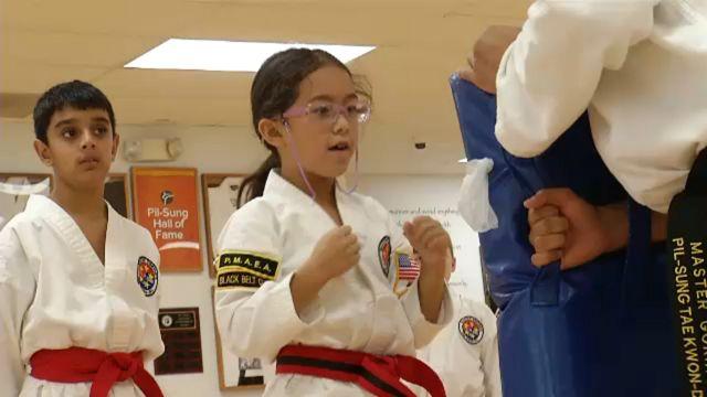 Taekwondo students take on a tough opponent: bullying