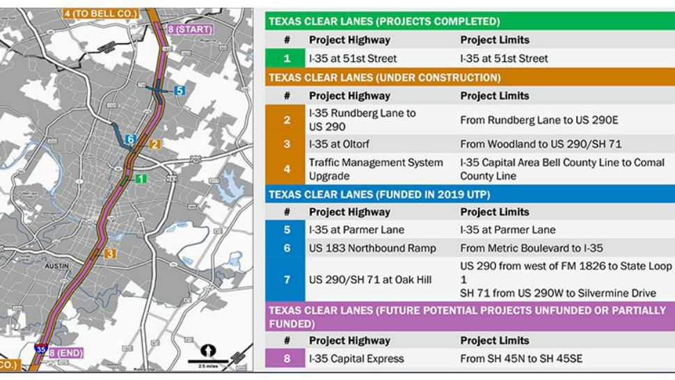 Map Of Texas I 35.Construction To Start At I 35 And Parmer Lane